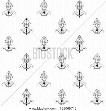 Seamless vector background. Floral damask pattern. Easily edit the colors.