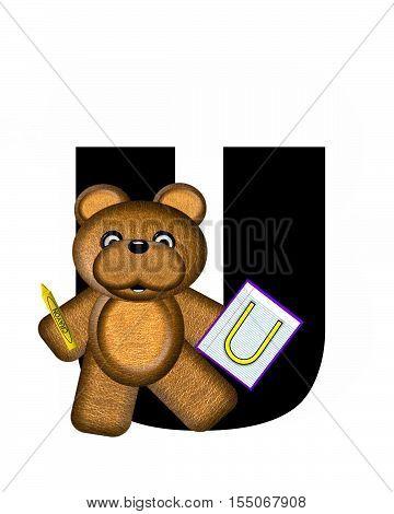 Alphabet Teddy Homework U