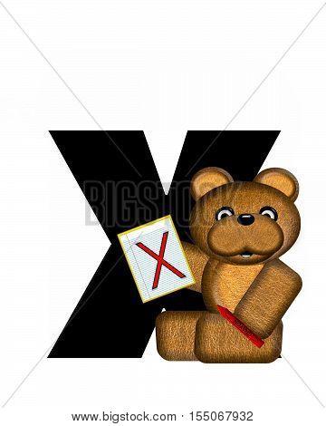 Alphabet Teddy Homework X