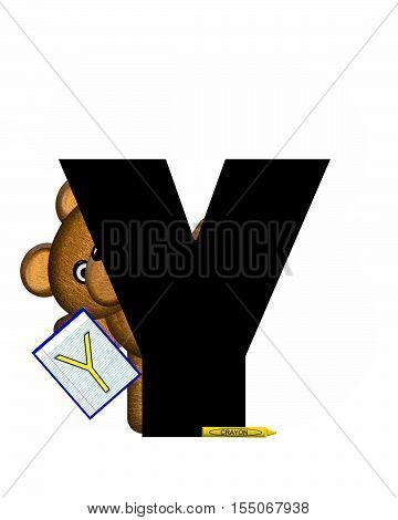 Alphabet Teddy Homework Y
