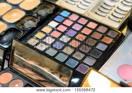 Close-up cosmetics professional makeup artist - Stock Photo