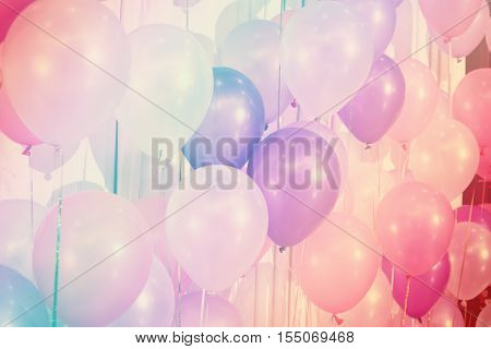 Pastel color balloons for Background, balloon decoration