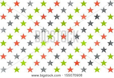 Watercolor Stars Pattern.