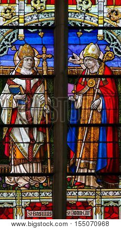 Saints Basil The Great - Stained Glass