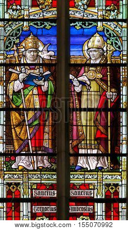 Saints Gregory And Ambrose - Stained Glass