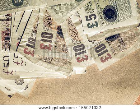 Vintage Gbp Pound Notes