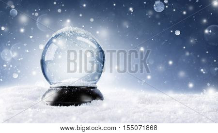 Snow Globe - Christmas Magic Ball On The Snow