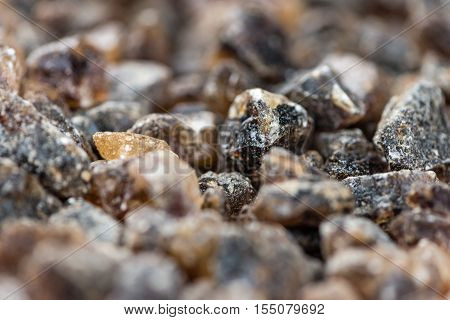 Brown Rock Candy (detailed close-up shot; selective focus)