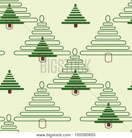 Seamless ornament composed of a mass of green fur-trees
