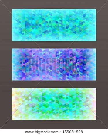 Set Horizontal Banner Design Element Background Glow Abstract Shape05