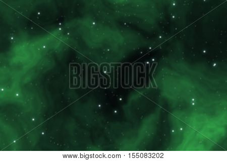 Deep space background filled with nebulae and shining stars
