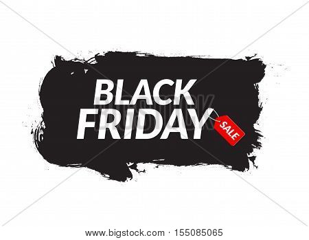 Black Friday sale abstract ink banner. Template for banner or poster Black Friday. Sale and discount design. Vector illustration.