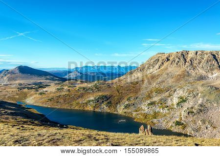 Alpine Lake In Beartooth Mountains