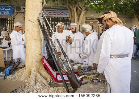 Men At A Nizwa Gun Market