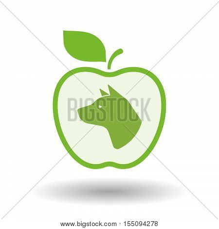 Isolated Healthy Apple Fruit With  A Dog Head