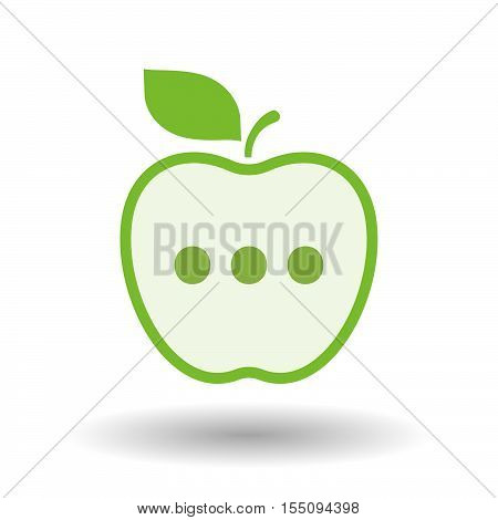 Isolated Healthy Apple Fruit With  An Ellipsis Orthographic Sign