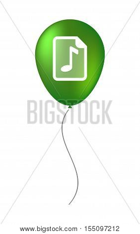 Isolated Air Balloon With  A Music Score Icon