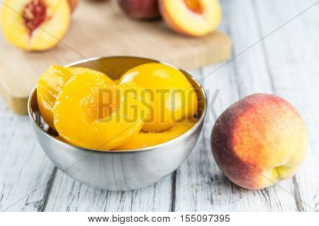 Portion Of Preserved Peaches