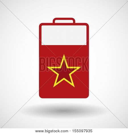 Isolated Battery Icon With  The Red Star Of Communism Icon