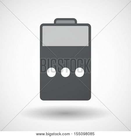 Isolated Battery Icon With  An Ellipsis Orthographic Sign