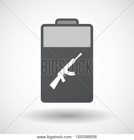 Isolated Battery Icon With  A Machine Gun Sign