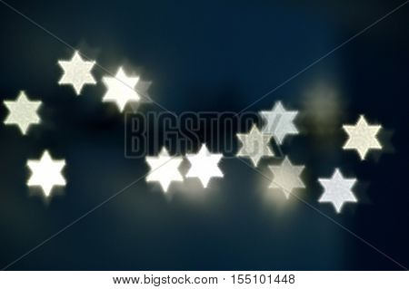 Star Of David Lights For Hanukkah
