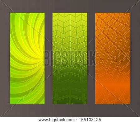 Vertical Banner Set Design Element Background Glow Abstract Shape04