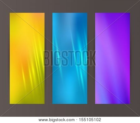 Vertical Banner Set Design Element Background Glow Abstract Shape11