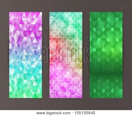 Vertical Banner Set Design Element Background Glow Abstract Shape16