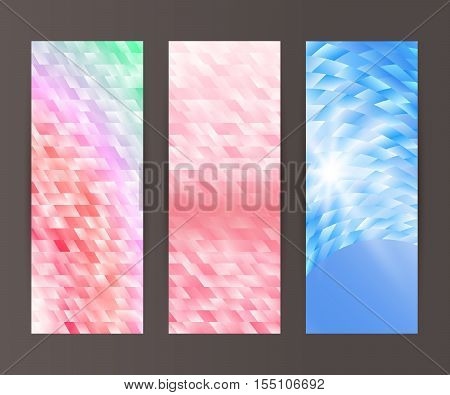 Vertical Banner Set Design Element Background Glow Abstract Shape19