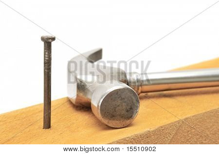 nail-catcher and nail isolated on a white