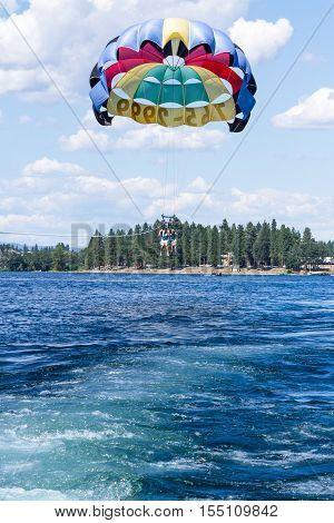 Parasailing Adventure On The Lake