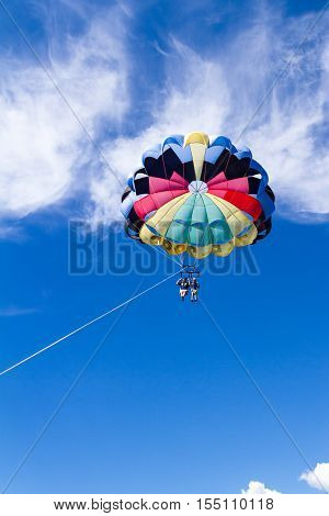 Parasailing Adventure With A Blue Sky