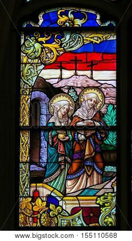 Stained Glass - Mary Magdalene And Mary Of Clopas