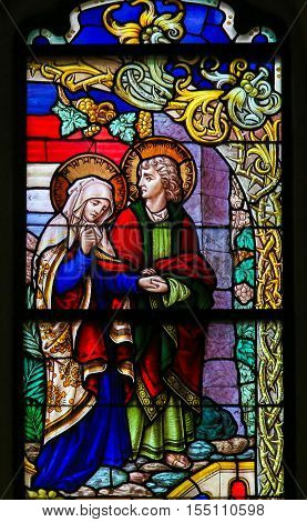 Stained Glass - Mary And Saint John On Good Friday