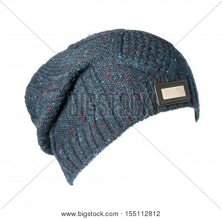 Knitted Hat Isolated On White Background .knitted Hat Isolated On White Background .colorful Hat