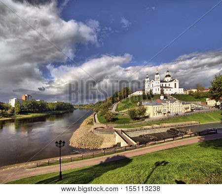 view of the city of Vitebsk, Belarus