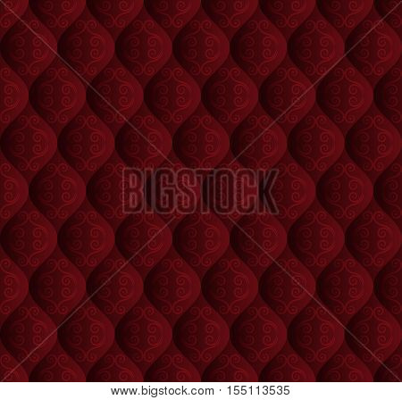 vintage background with seamless pattern - vector illustration