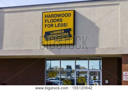 Indianapolis - Circa November 2016: Lumber Liquidators Strip Mall Location. Lumber Liquidators is an American retailer of hardwood flooring I