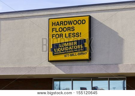 Indianapolis - Circa November 2016: Lumber Liquidators Strip Mall Location. Lumber Liquidators is an American retailer of hardwood flooring II