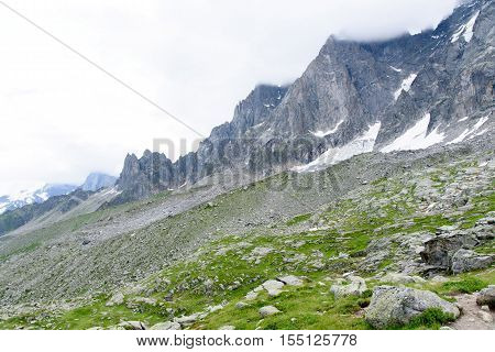 Aiguile du Chardonnet a beautiful view of Mont Blanc Massif Chamonix France Europe
