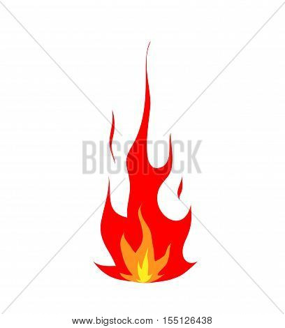 Hot Flame Fire Burning Icon. A hand drawn vector illustration of a fire burning icon.