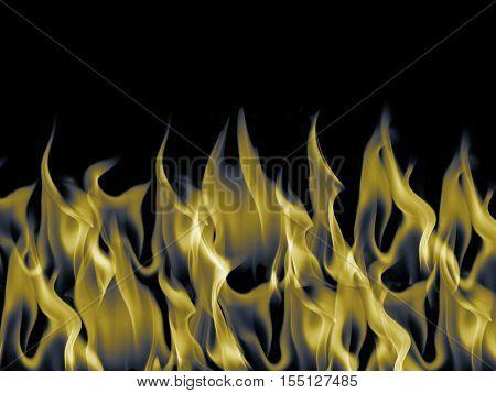 Gold dark blaze flame fire burn background