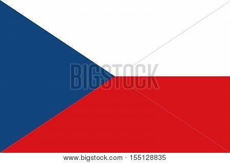 Official vector flag of Czech Republic .