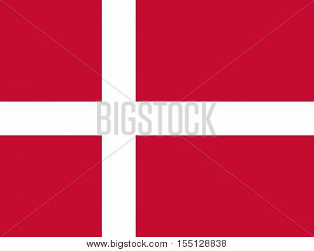 Official vector flag of Denmark . Kingdom of Denmark .