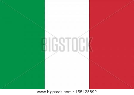 Official vector flag of Italy . Italian Republic .