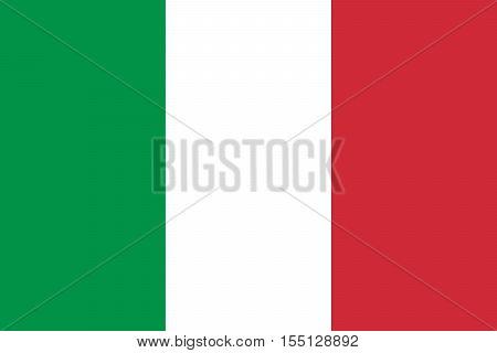 Official vector flag of Italy . Italian Republic .
