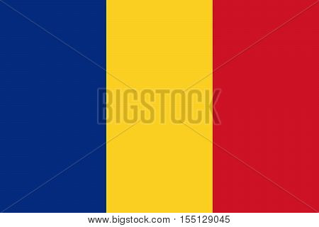 The Official vector flag of Romania .