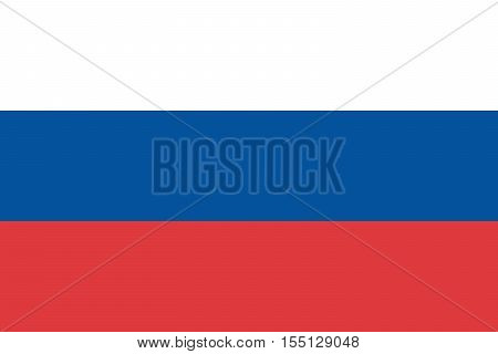 Official vector flag of Russia . Russian Federation .