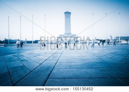 Monument to the People's Heroes of Tiananmen Square in Beijing China